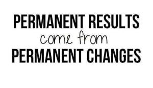 permanent changes